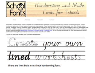 schoolfonts.com.au screenshot