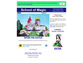 schoolofmagic.net screenshot