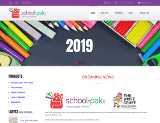 schoolpak.com screenshot