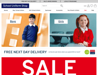 schooluniformshop.co.uk screenshot