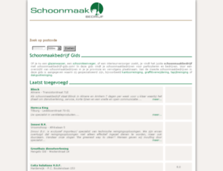 schoonmaakbedrijf-gids.com screenshot