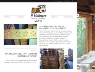 schreinerei-holinger.ch screenshot
