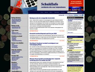 schuldinfo.nl screenshot
