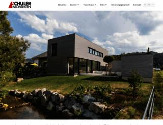 schuler-architekten.de screenshot