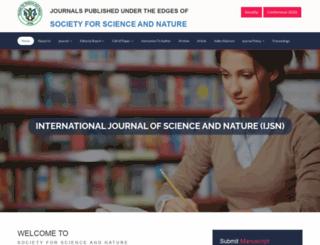 scienceandnature.org screenshot