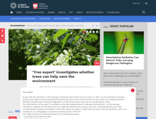 scienceinpoland.pap.pl screenshot