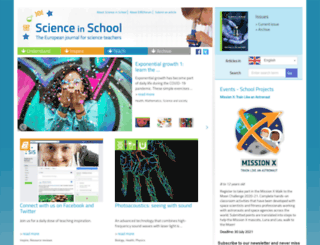 scienceinschool.org screenshot