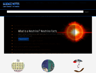 Sciencenotes.org Screenshot
