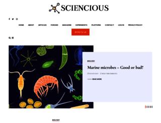 sciencious.com screenshot