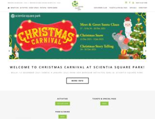 scientiasquarepark.com screenshot