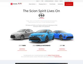 scion.com screenshot
