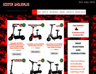 scooterwholesales.com screenshot