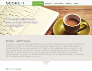 scoreit.se screenshot