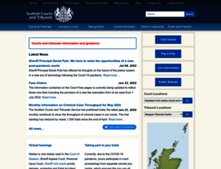 scotcourts.gov.uk screenshot