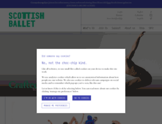 scottishballet.co.uk screenshot