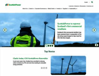 scottishpower.com screenshot