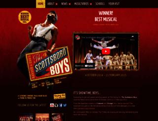 scottsboromusicallondon.com screenshot