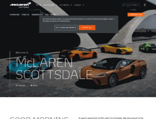 scottsdale.mclaren.com screenshot