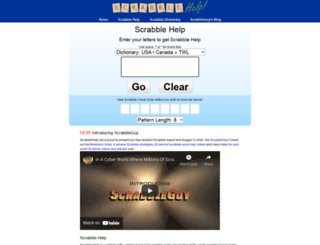 scrabblehelp.net screenshot