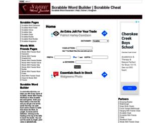 scrabblewordbuilder.net screenshot