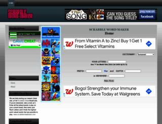 scrabblewordmaker.com screenshot