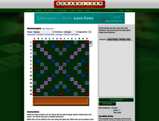 scrabulizer.com screenshot
