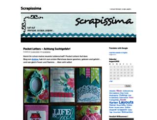 scrapissima.wordpress.com screenshot