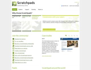 scratchpads.eu screenshot