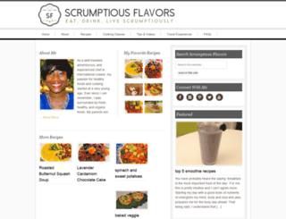 scrumptiousflavors.com screenshot