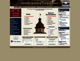 scstatehouse.gov screenshot