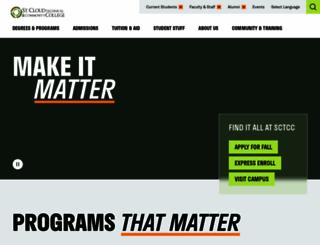 sctcc.edu screenshot