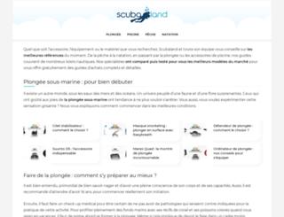 scubaland.fr screenshot