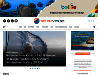 scubaverse.com screenshot