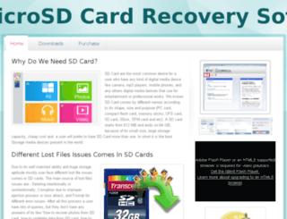 sdcarddatarecovery.webs.com screenshot