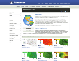sdg.mesonet.org screenshot