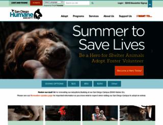 sdhumane.org screenshot