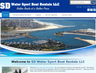 sdwatersportboatrentals.com screenshot