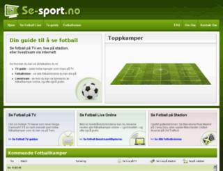 se-sport.no screenshot