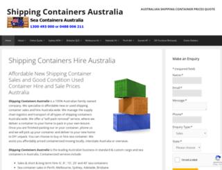 seacontainersaustralia.com.au screenshot