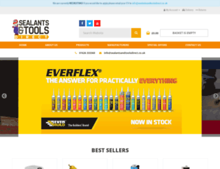 sealantsandtoolsdirect.co.uk screenshot