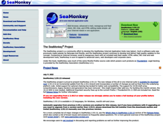 seamonkey-project.org screenshot