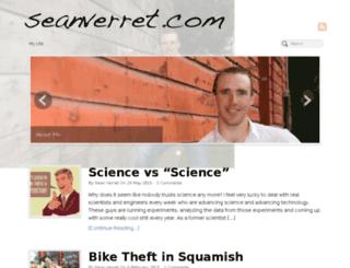 seanverret.com screenshot