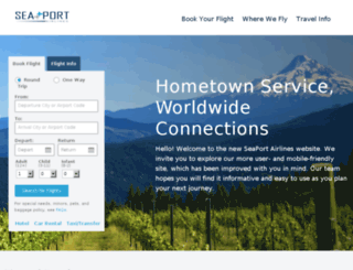 seaportair.com screenshot
