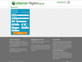 search.charterflights.co.uk screenshot