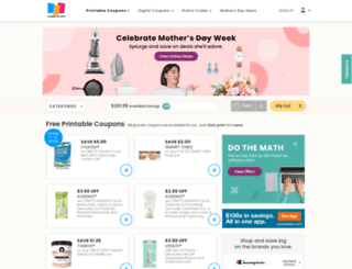 search.coupons.com screenshot