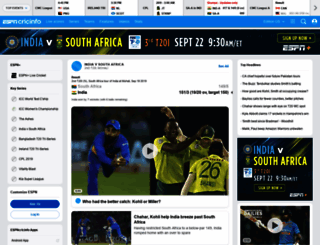 search.espncricinfo.com screenshot