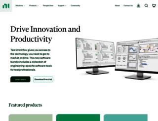 search.ni.com screenshot