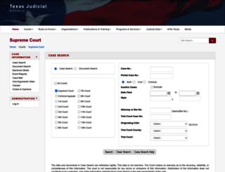 search.txcourts.gov screenshot