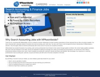 searchaccountingjobs.com screenshot