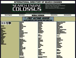 searchenginecolossus.com screenshot